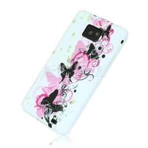 Ecell   WHITE BUTTERFLY SILICONE GEL CASE FOR SAMSUNG