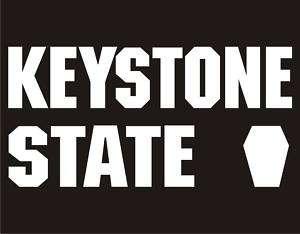 KEYSTONE STATE Funny T Shirt Pennsylvania Nickname Tee