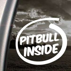 Pitbull Inside Paws Bone Decal Dog Window Sticker