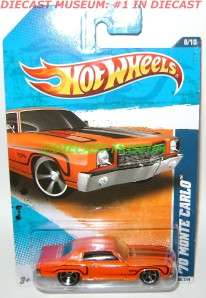 1970 70 CHEVY MONTE CARLO HOT WHEELS DIECAST 2011