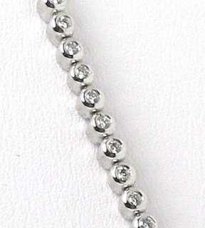 LOVELY 14K W GOLD & DIAMONDS NECKLACE BRACELET SET