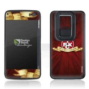 Design Skins for Nokia N900   1. FCK   You will never walk
