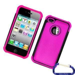 Gizmo Dorks Hybrid Cover Silicone Case (Black / Hot Pink