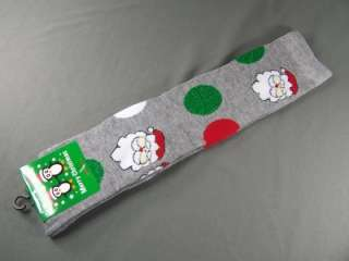 Green santa claus Dots Christmas Holiday knee socks ladies 9 11