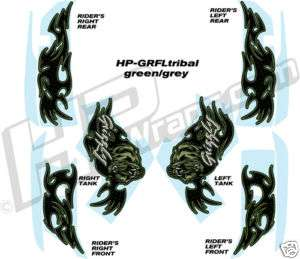 YAMAHA GRIZZLY 660 700 GRAPHICS KIT Decals Stickers GRN