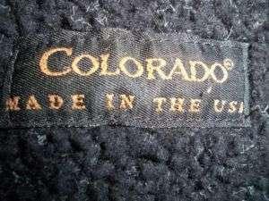 Colorado fleece Jacket Shirt Small Black USA made