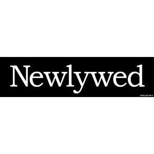 Two In Love Newlywed Car Decal Bumper Sticker Decal