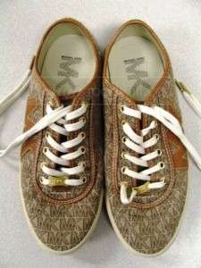 Womens Authentic Michael Kors Tan Signature Sneakers Super Cute