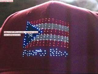 Puerto Rico Electro Optical Flashing Flag Cap