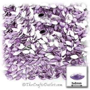 1440pc Rhinestones Eye Shaped (Navette) 3x6mm Lavender Light Purple or