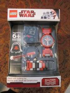 NEW LEGO STAR WARS Darth Maul WRISTWATCH WATCH lucas clock + Minifig