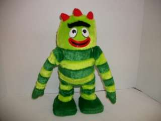 Yo Gabba Gabba 14Singing Dancing Brobee Green Stripes Dance Time~FREE