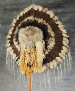 Native American Prairie Coyote War Bonnet Headdress