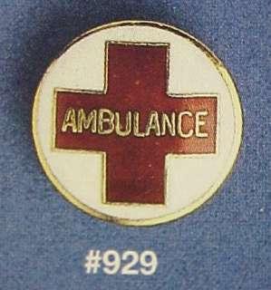 Ambulance Red Cross Emblem Insignia Lapel Pin 929 New