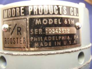 You are bidding on one Moore Products 61H F/R Booster   brand new in