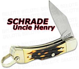 Schrade Uncle Henry Smokey Staglon Lockback Knife LB2