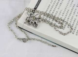 pcs Tibetan silver Mom & son Horse Pendant Necklaces