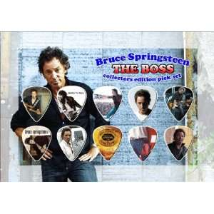 Bruce Springsteen Premium Celluloid Guitar Picks Display