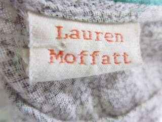 LAUREN MOFFATT White Brown Paisley Print Halter Dress 4