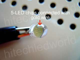 300p High Power 0.5W 5mm White LED LIGHT BULB 110Kmcd