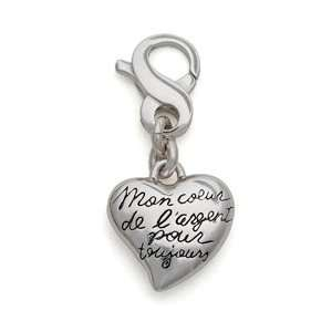 My Sterling Heart Forever Heart Charm, Sterling Silver