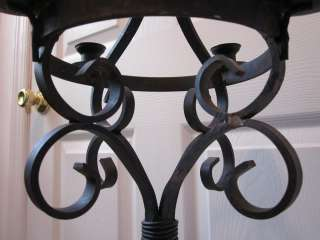 Vintage Salvage Cast Iron Candle Lamp Stand Candelabra