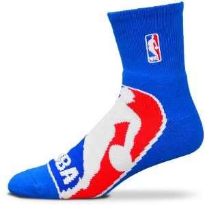 Fore Bare Feet BIG NBA Logo Blue Quarter Socks Size Large