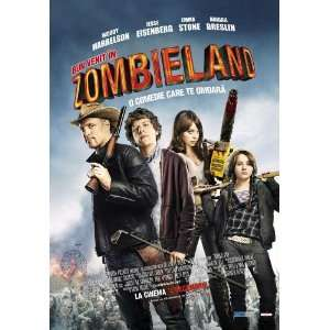 Zombieland Poster Movie Romanian 11x17 Amber Heard Emma Stone Bill