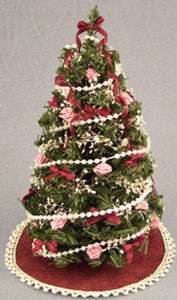 Dollhouse Miniature Decorated Christmas Tree #DH4599