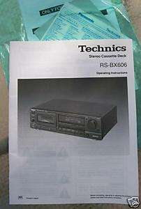 TECHNICS RS BX606 CASSETTE DECK OWNERS MANUAL my lot#12 |
