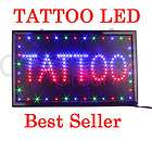 Large TATTOO PIERCING Shop LED Light Neon Sign 22x13