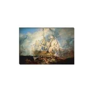 of Trafalgar 1822 1824 by William Turner Canvas Art P