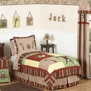 Monkey 3 Piece Full / Queen Comforter Set Home & Kitchen