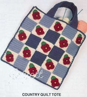 Crochet Carry Alls, Annies crochet tote bag purse RARE