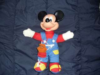 Vintage Mickey Mouse Plush Learn Dress Activity Doll