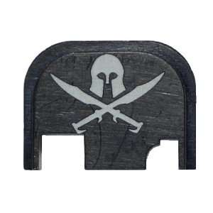 Molon Labe Helmet and Swords Rear Slide Cover Plate for