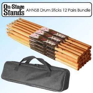 On Stage AHN5B American Hickory Wood Drum Stick with Nylon