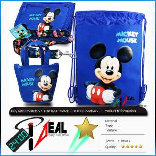 DISNEY MICKEY MOUSE SET ITEM wallet lanyard purse (4pc)