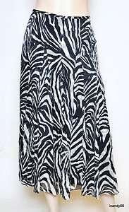 Nwt $139 Jones New York MEURICE Silk Long Lined Full Skirt ~White