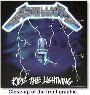 Metallica RIDE THE LIGHTNING TOUR Concert Shirt PICK SZ