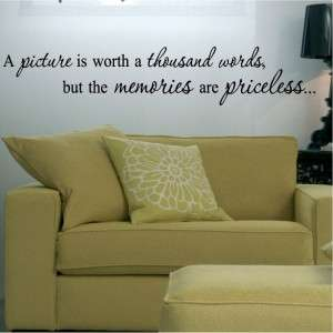 Picture Memories Sayings Decal Wall Lettering Art Vinyl