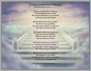 In Loving Memory Personalized Poem Print