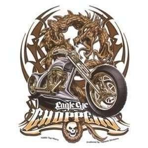 Top Heavy   Eagle Chopper Tribal Dragon Biker   Sticker