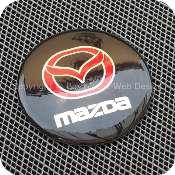2920bkrdb1f1 mazda 56mm 5.6cm black red center wheel hub cap aluminium