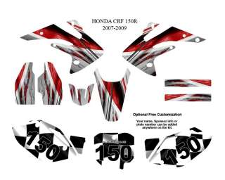Honda CRF 150R 2007 09 MX Graphics Decals Kit #1400R