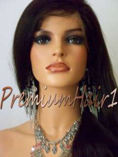 Full Lace Human Indian Hair Remi Remy Wig Natural Straight 12 24 All
