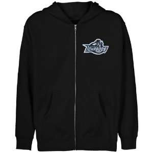 NCAA Washburn Ichabods Youth Black Logo Applique Full Zip