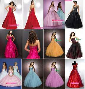 Fast Shipping Cheap Stock Strapless Halter Prom Dresses Evening Gown