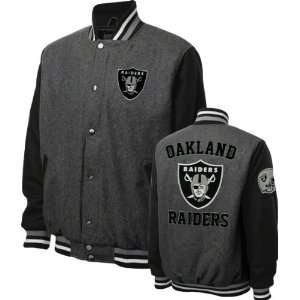 Oakland Raiders Grey Wool Varsity Jacket Sports