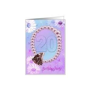 Birthday Party Invitiation. Flowers and butterflies Card: Toys & Games